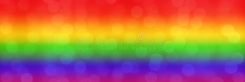 Fond brouillé d'arc-en-ciel avec les boules légères de bokeh naturel papier peint abstrait de Web de gradient Concept de mouvemen photos libres de droits