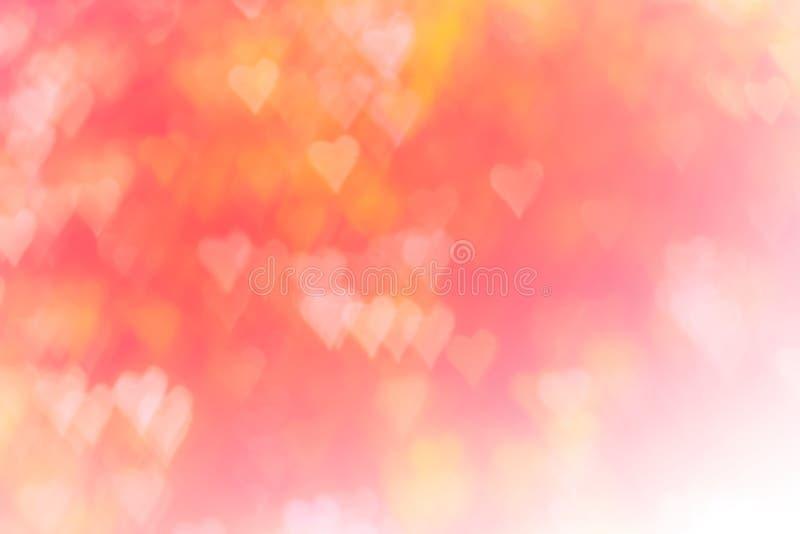 Fond brouillé de concept de jour du ` s de Valentine Carte de jour de Valentines Tons de couleur en pastel illustration libre de droits