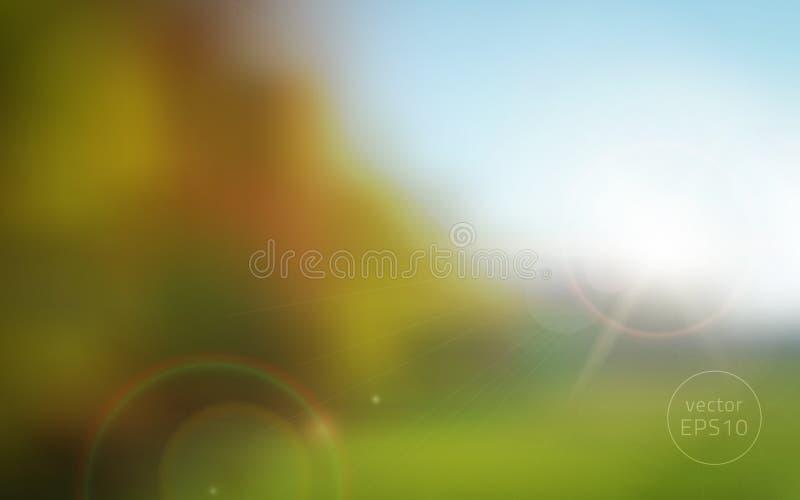 Fond brouillé de coucher du soleil d'automne illustration de vecteur