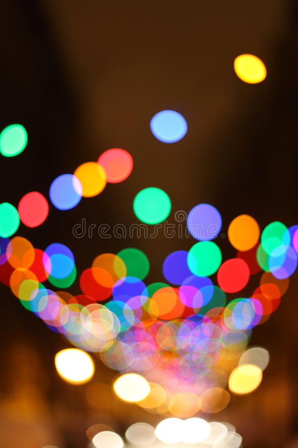 Fond brouillé de lumières de Noël photos stock