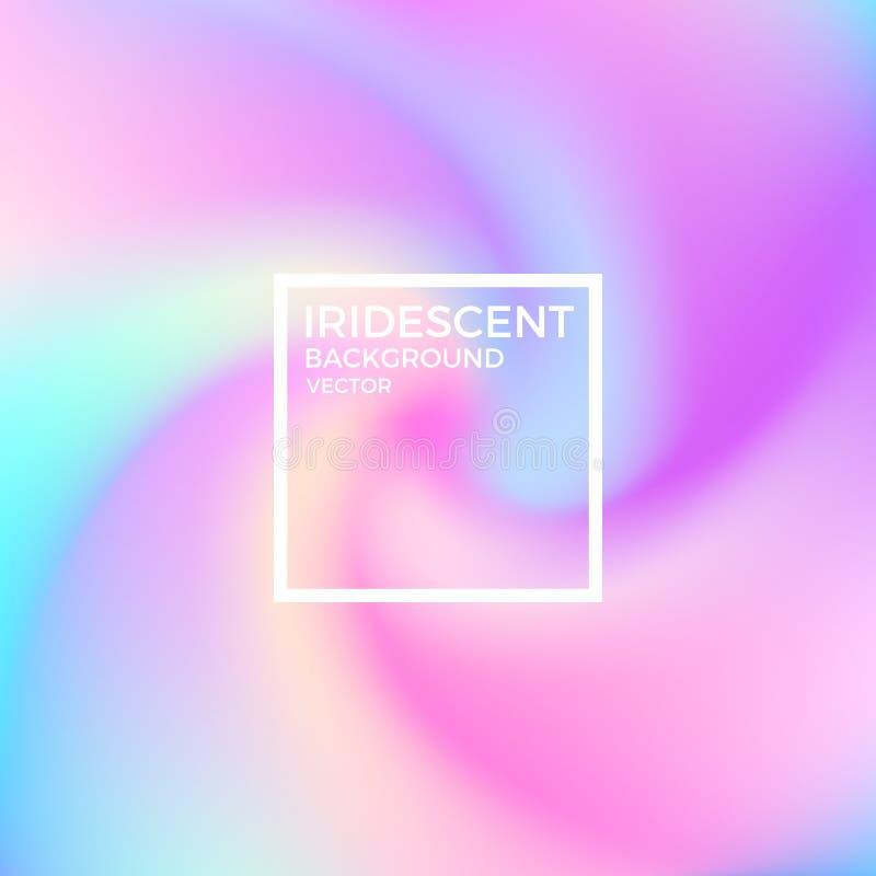 Fond brouillé de mouvement Fond iridescent illustration libre de droits