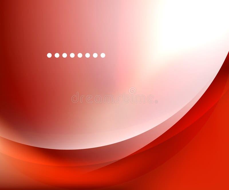 Fond brouillé doux brillant d'onde illustration de vecteur