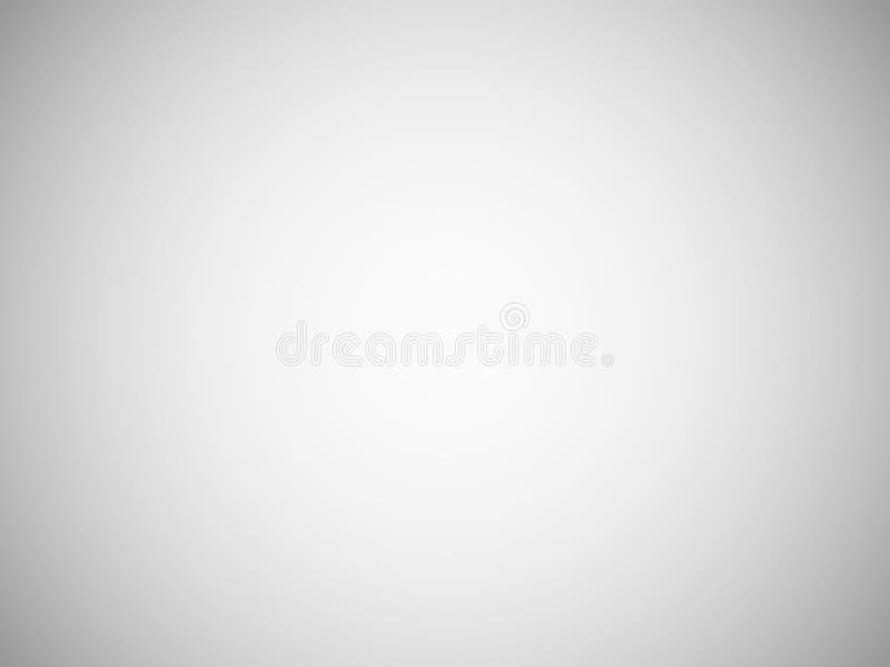 Fond brouillé gris-clair vide avec le gradient radial Contexte de pièce de studio Effet de photo de vignette de vecteur illustration libre de droits