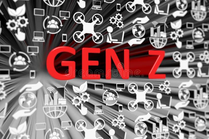 Fond brouillé par concept de la GEN Z illustration de vecteur