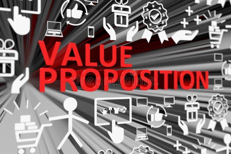 Fond brouillé par concept de PROPOSITION de VALEUR illustration de vecteur