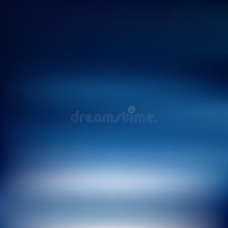 Fond brouillé par gradient bleu-foncé Vecteur images stock