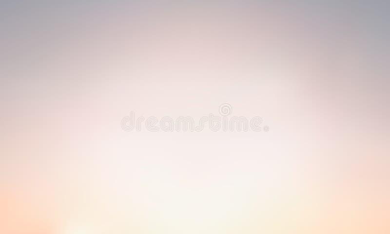 Fond brouillé par gradient de vecteur Couleur naturelle Beige léger, sable et nuances grises illustration stock