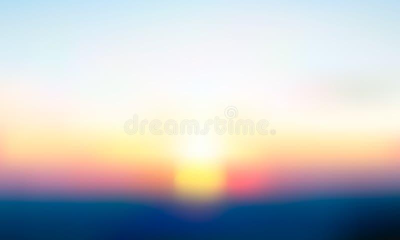 Fond brouillé par gradient de vecteur Couleur naturelle Ligne d'horizon illustration libre de droits