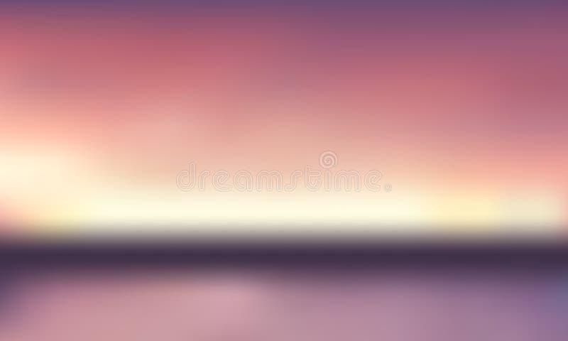 Fond brouillé par gradient de vecteur Couleur naturelle Ligne d'horizon illustration de vecteur