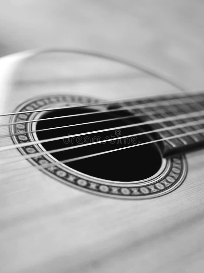 fond brouillé par guitare classique images stock