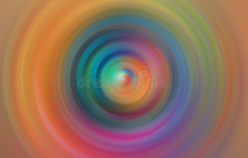 Fond brouillé par radial abstrait coloré de mouvement photo stock