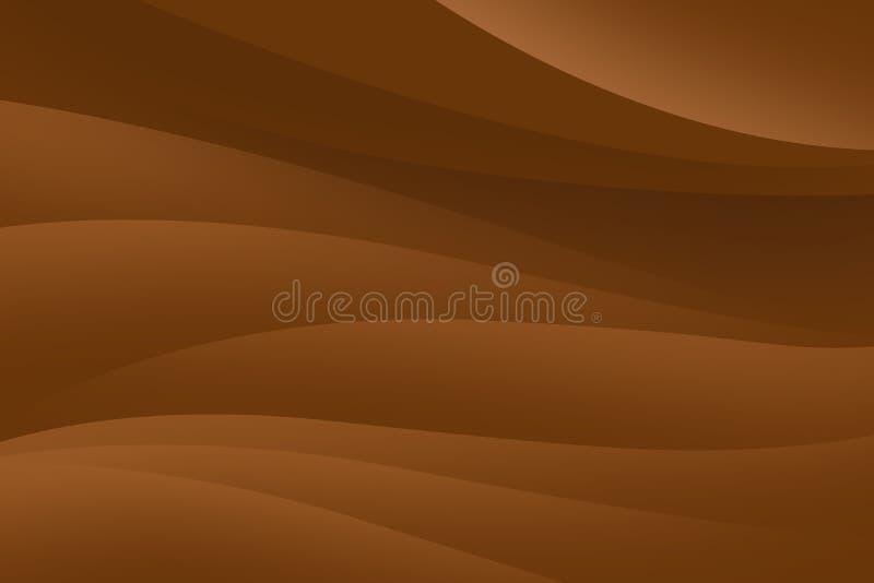 Fond brun abstrait avec les lignes douces, conception futuriste illustration de vecteur
