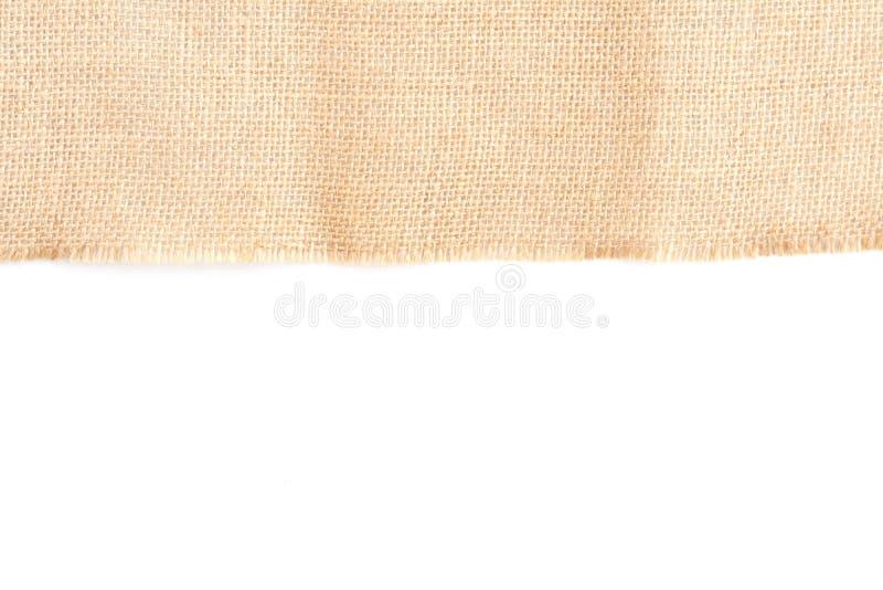 Fond brun arri?re de texture de toile de tissu avec l'espace vide pour la conception des textes Pli hessois beige jaune propre de photo libre de droits