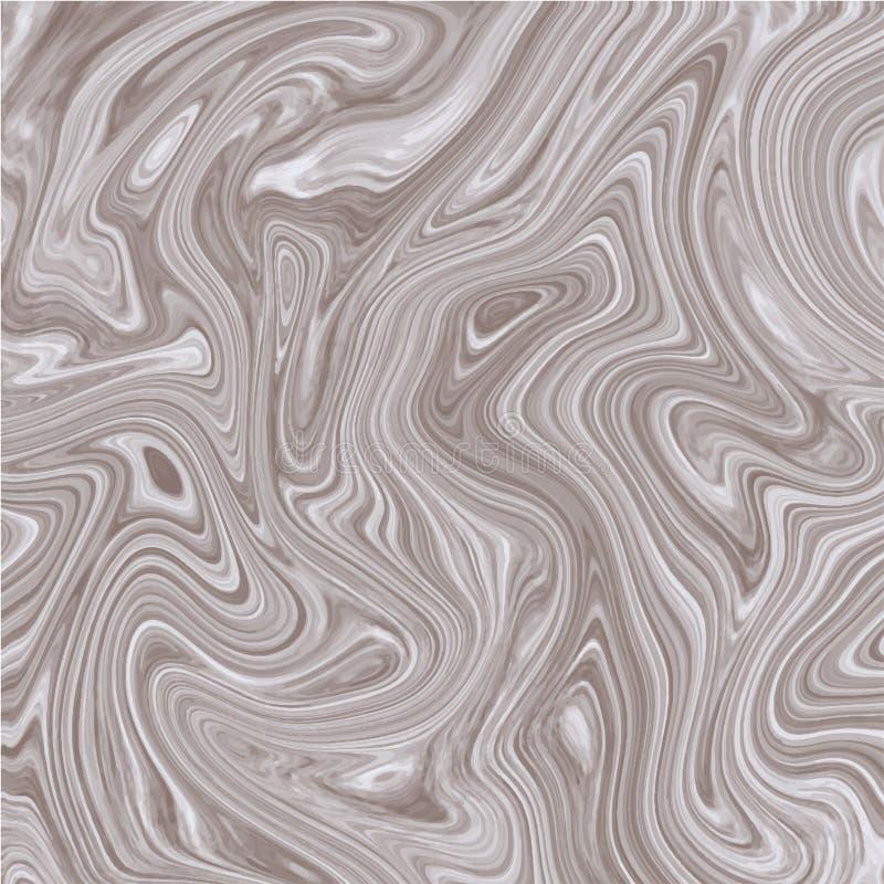 Fond brun blanc de marbre de vecteur Texture métallique de marbre d'encre illustration de vecteur