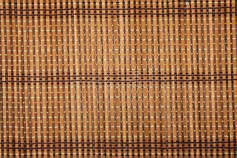 Fond brun en bambou photo libre de droits