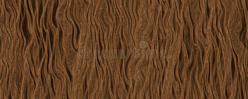 Fond brun plat d'arbre d'écorce de racine photographie stock