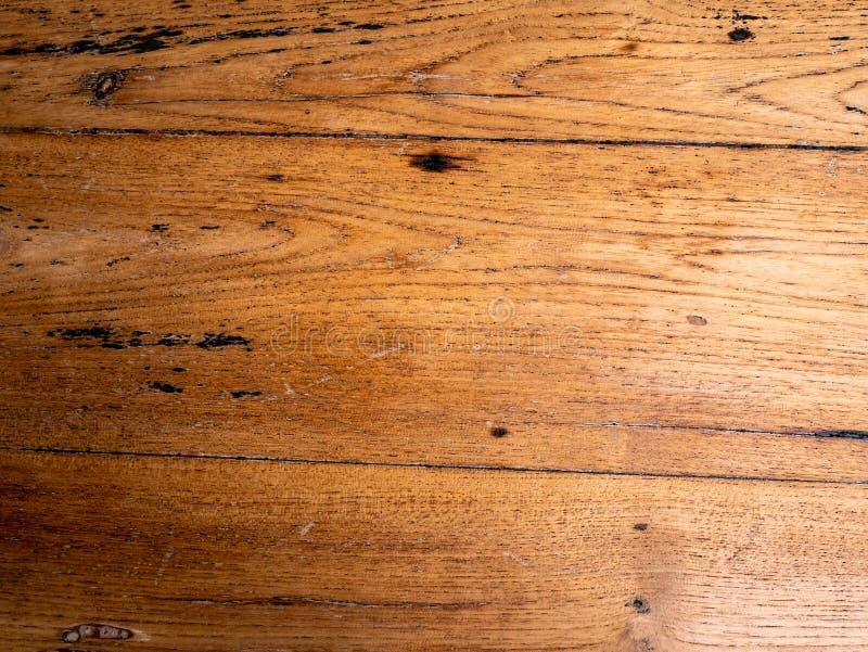 Fond brun vieux en bois de teck Menuiserie, naturelle image stock