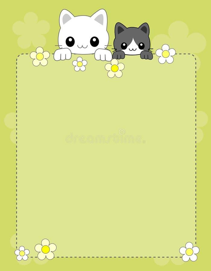 Fond/cadre de chat illustration de vecteur