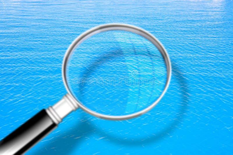 Fond calme de l'eau - image de concept vue une loupe photographie stock libre de droits