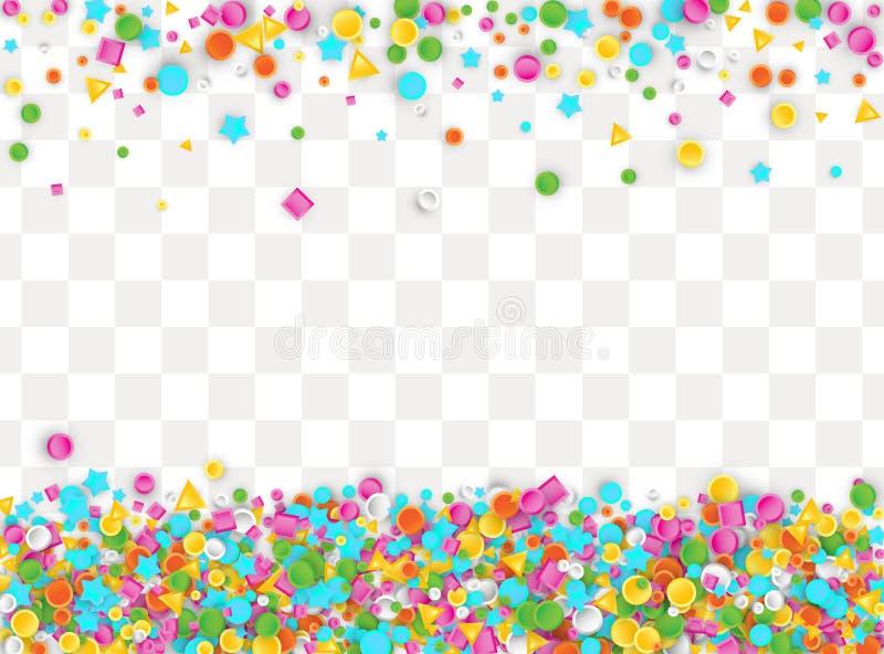 Fond carnaval coloré de confettis photos libres de droits