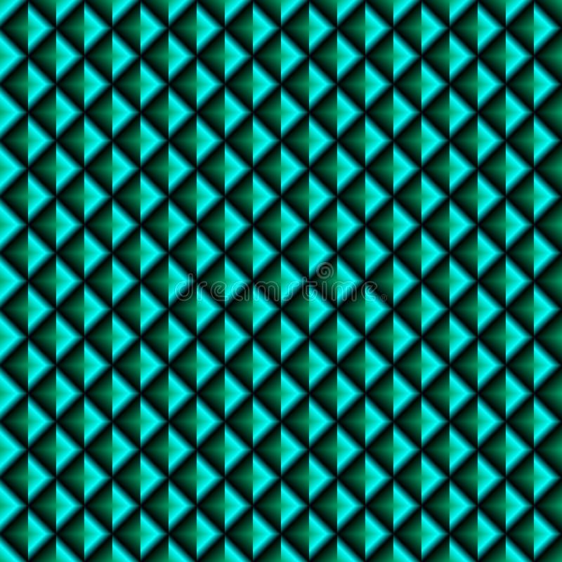 Fond carré abstrait avec le gradient noir, bleu et vert illustration de vecteur