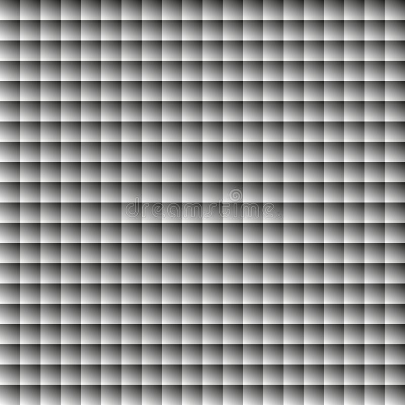 Fond carré abstrait avec le gradient noir et blanc illustration stock