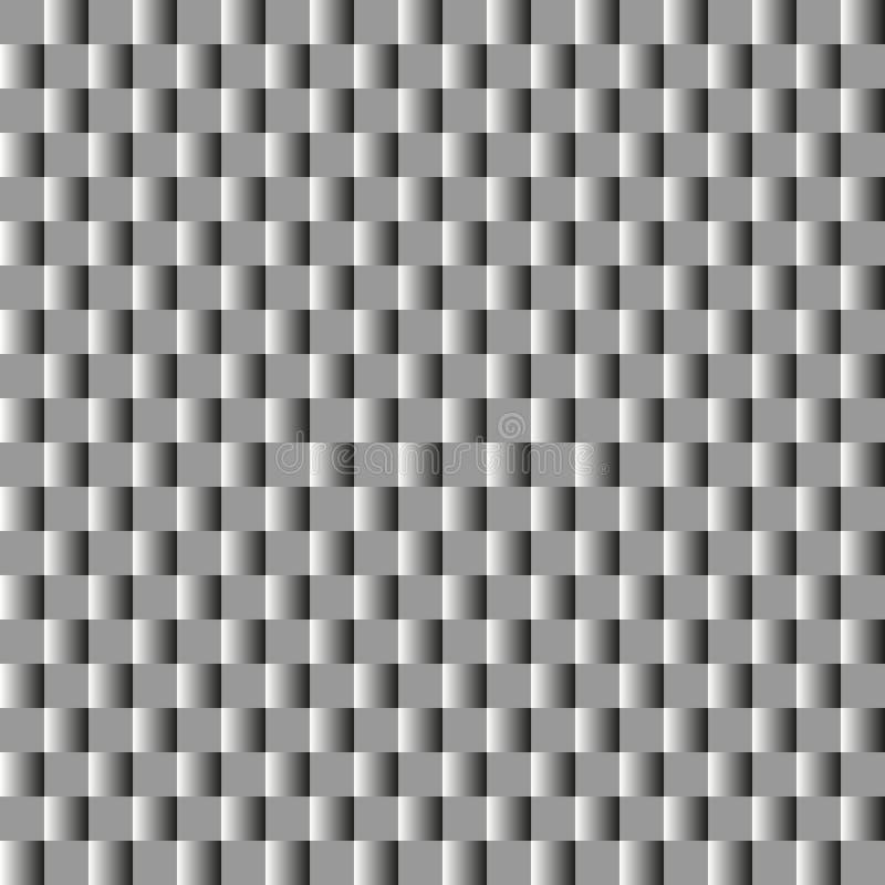Fond carré abstrait avec le gradient noir et blanc métallique illustration libre de droits