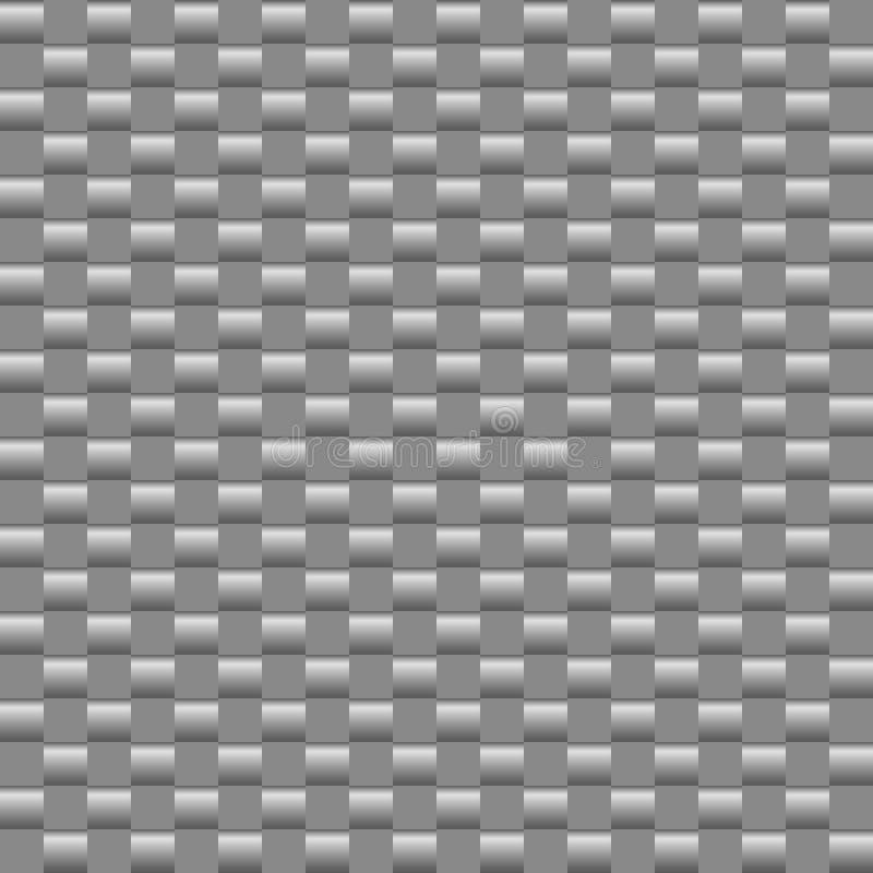Fond carré abstrait avec le gradient noir et blanc métallique illustration stock