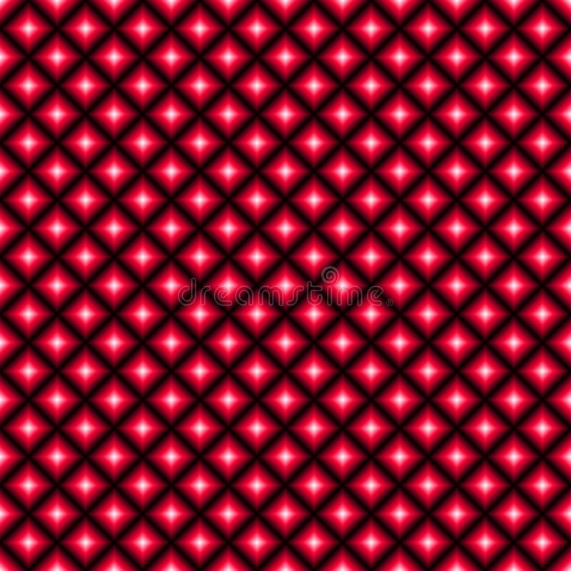 Fond carré abstrait avec le gradient noir, rouge et blanc illustration de vecteur