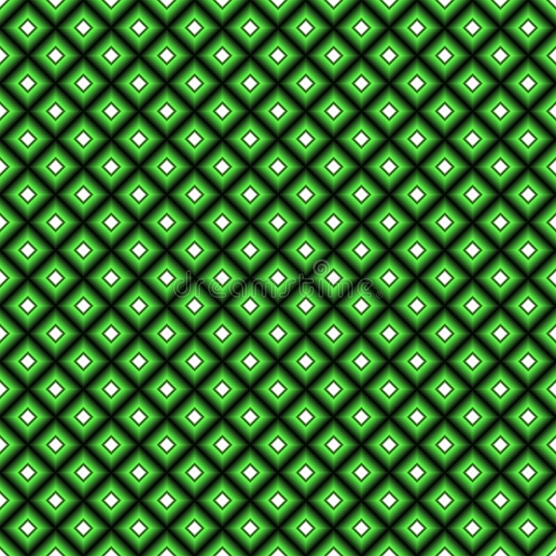 Fond carré abstrait avec le gradient noir, vert et blanc illustration stock