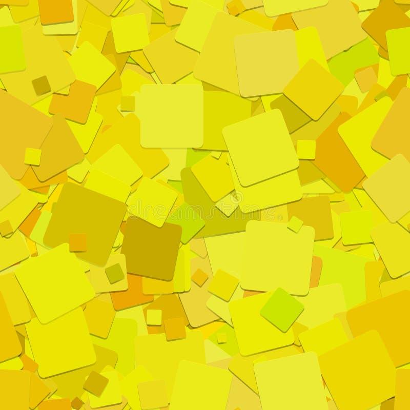 Fond carré abstrait de modèle - graphique de vecteur des places jaunes avec l'effet d'ombre illustration stock