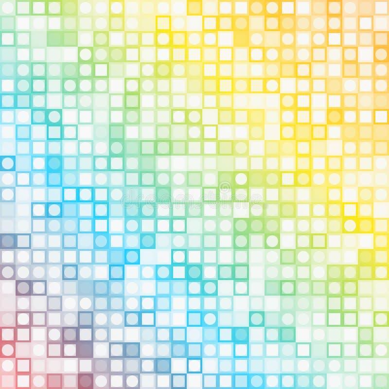 Fond carré abstrait de mosaïque de pixel illustration stock