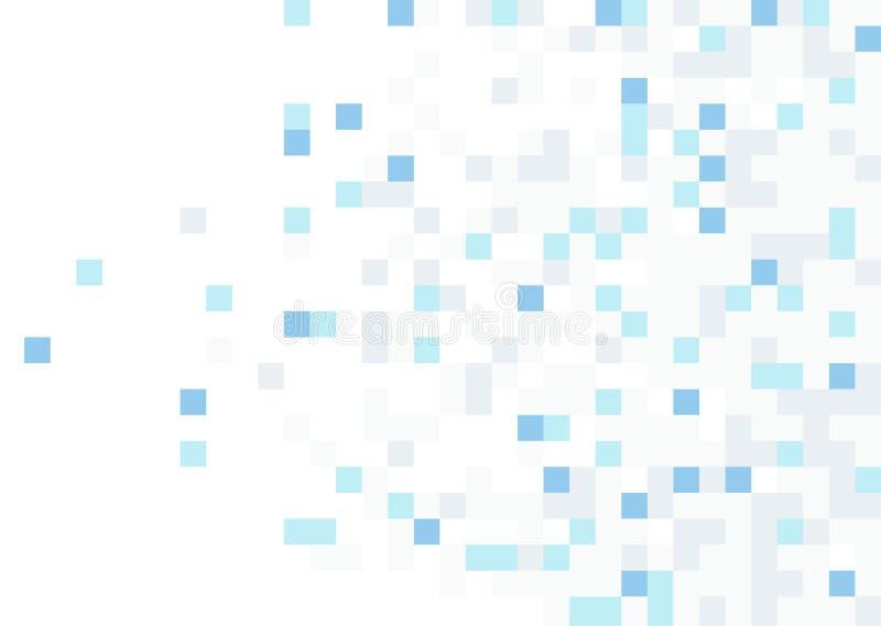 Fond carré abstrait de mosaïque de Pixel illustration de vecteur