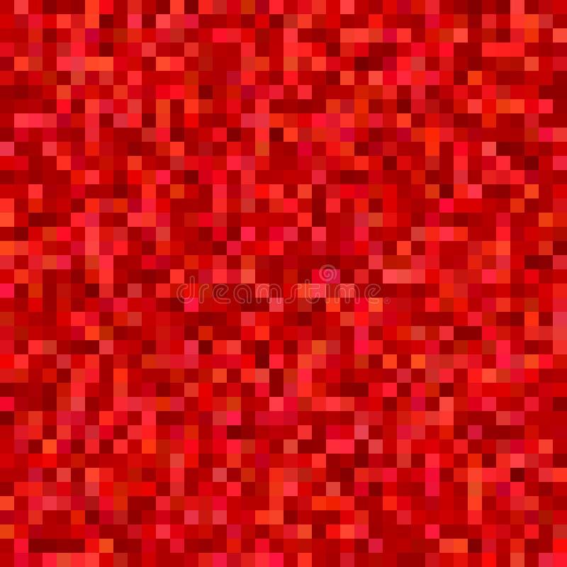 Fond carré abstrait géométrique de mosaïque - dirigez la conception des places dans des tons rouges illustration libre de droits
