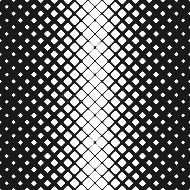 Fond carré arrondi noir et blanc abstrait géométrique de modèle - dirigez la conception illustration de vecteur