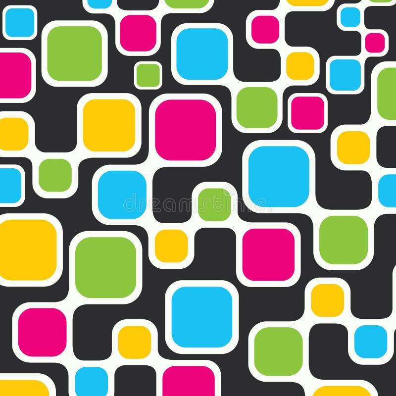 Fond carré coloré illustration stock