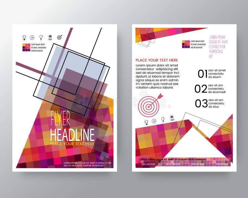 Fond carré coloré moderne abstrait pour le calibre de disposition de conception d'insecte de brochure d'affiche dans la taille d' illustration de vecteur