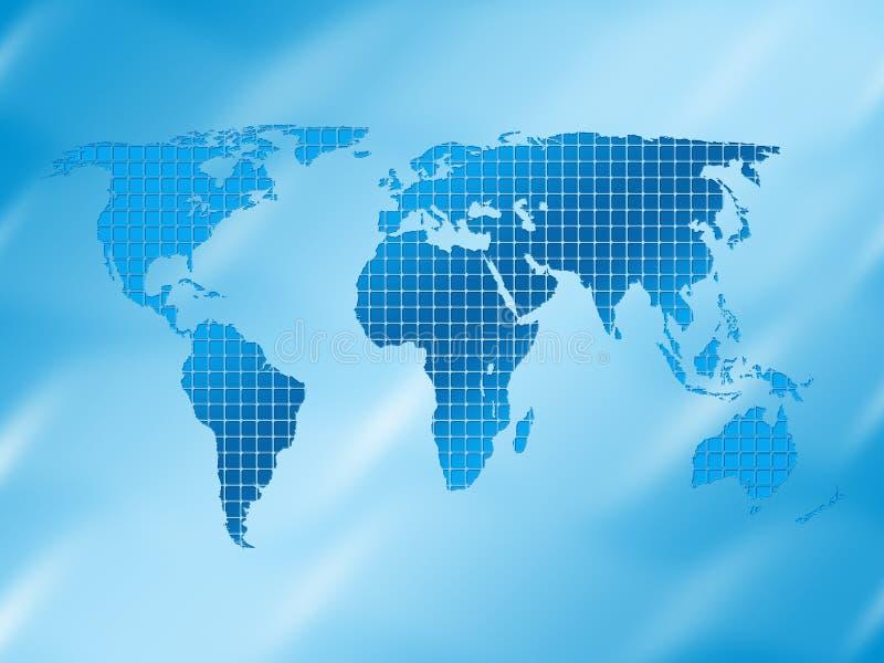 Fond carré de carte du monde illustration stock