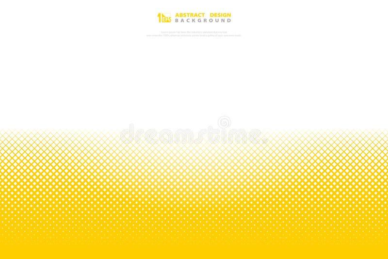Fond carré de décoration de couleur de modèle géométrique minimal jaune abstrait d'image tramée Vecteur eps10 d'illustration illustration stock