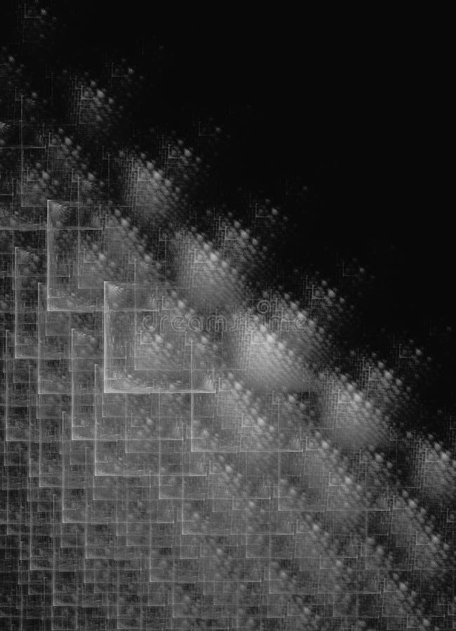 Fond carré de noir de grille de fractale illustration de vecteur