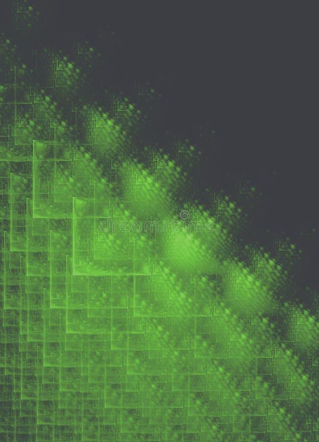 Fond carré de noir de grille de fractale illustration stock