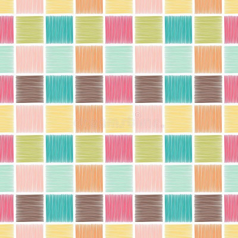 Fond carré géométrique sans couture de tuile illustration stock