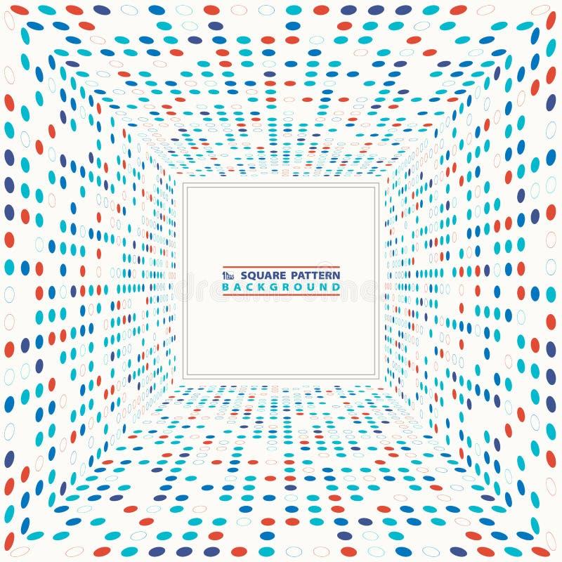 Fond carré géométrique tramé de modèle de cercle coloré abstrait Vecteur eps10 d'illustration illustration libre de droits
