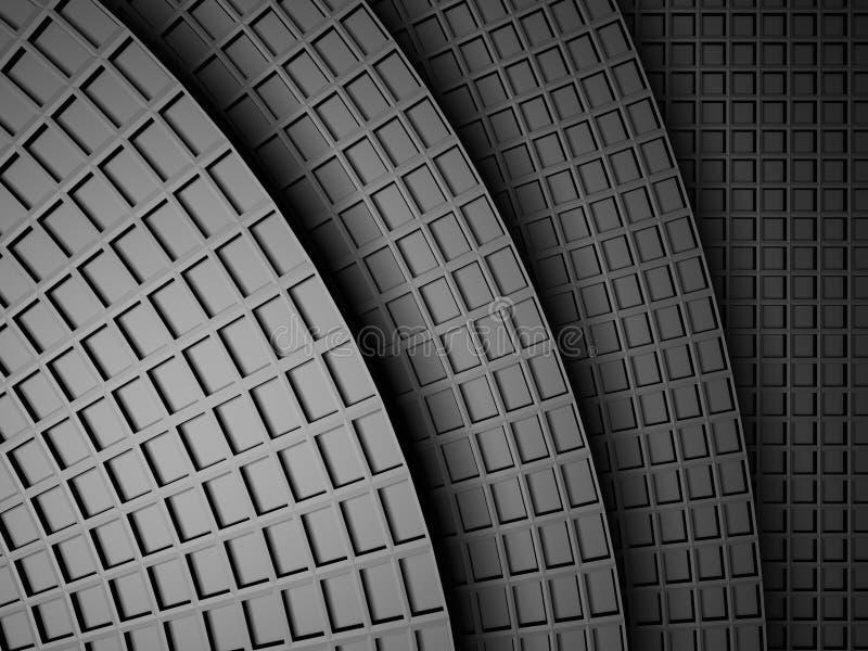 Fond carré métallique foncé de design industriel illustration libre de droits