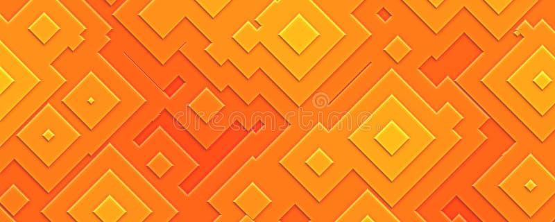 fond carré orange du gradient 3d illustration libre de droits