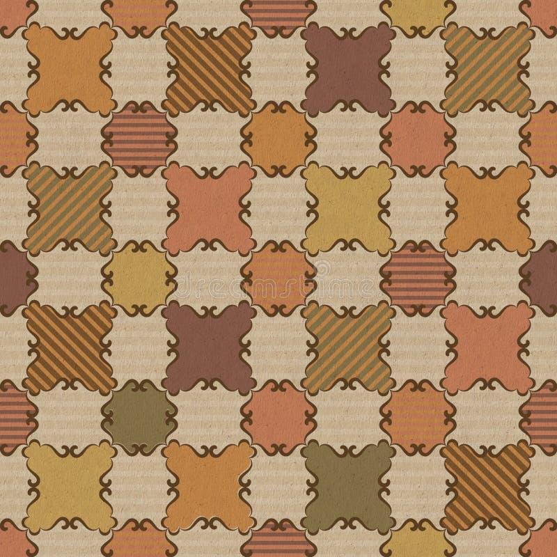 Fond carré rayé illustration stock