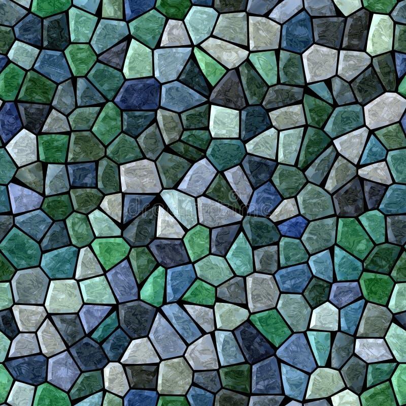 Fond carré sans couture de plancher de mosaïque extérieure de marbre avec la couleur bleu-foncé et verte noire de coulis - illustration stock