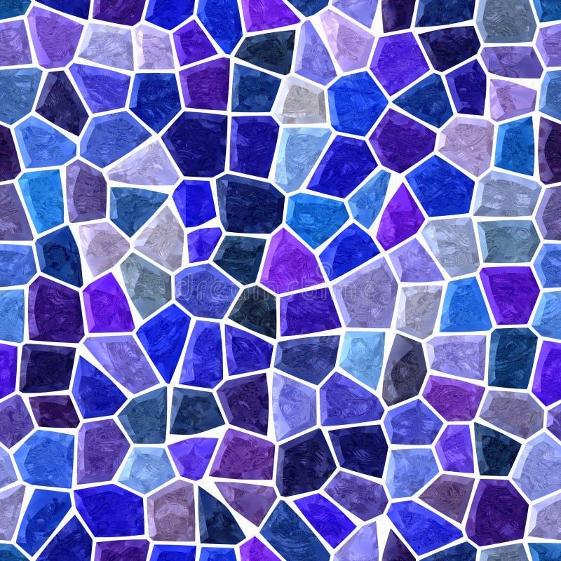 Fond carré sans couture de plancher de mosaïque extérieure de marbre avec la couleur violette bleue et pourpre blanche de coulis  illustration stock