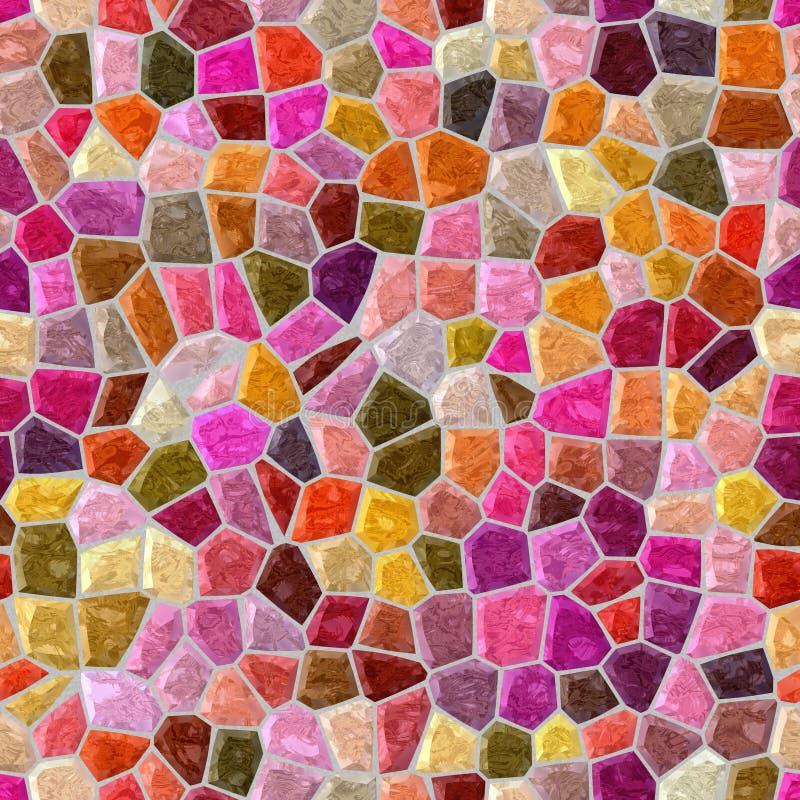 Fond carré sans couture de plancher de mosaïque extérieure de marbre avec le coulis gris - rouge, vin, Bourgogne, rose indien, ma illustration libre de droits
