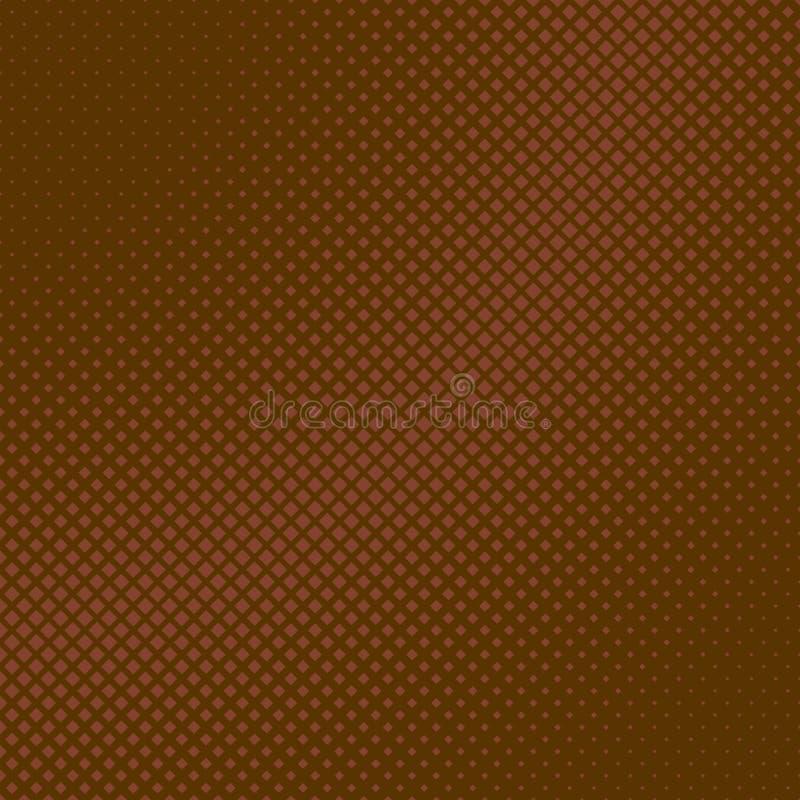 Fond carré tramé géométrique de modèle d'abrégé sur Brown des places illustration stock